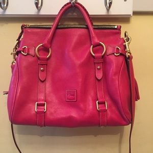 Dooney & Bourke Fuchsia Leather Florentine Satchel